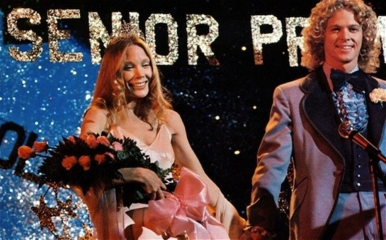 "Sissy Spacek as the original Carrie with William Katt, the original ""Great American Hero"" - image from the movie ""Carrie"" at senior prom"