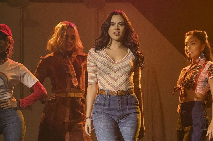 "Camila Mendes as Veronica on ""Riverdale"" as Chris in ""Carrie: The Musical"""